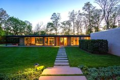 A Renovated, Midcentury Glass-and-Steel House in New York Asks $2.45M - Photo 1 of 9 -