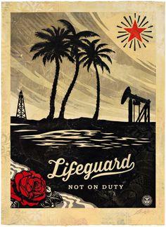 Shepard Fairey: Lifeguard Not on Duty, HPM, 2015 | Pace Prints