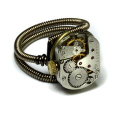 Steampunk Ring  Antique Vintage Watch Movement by CatherinetteRings