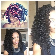 Loving this flexi rod set on the owner and founder  of @mielleorganics using avocado hair milk and white peony leave in conditioner.... Great style for the holidays