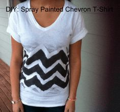 DIY: Spray Painted T-shirt (Chevron) + Valentine's Day Bracelet! Tie Die Shirts, Team T Shirts, Paint Chevron, Diy Spray Paint, Paint Shirts, T Shirt Diy, Style Me, Shirt Designs, Dress Up