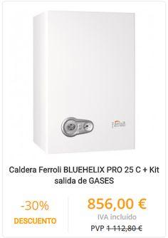 CALDERA FERROLI BLUEHELIX PRO 25 C + KIT SALIDA DE GASES