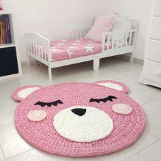 31 super ideas for crochet rug girl etsy Crochet Bear, Crochet Home, Baby Blanket Crochet, Crochet For Kids, Crochet Dolls, Bear Rug, Crochet Rug Patterns, Crochet Carpet, Nursery Rugs