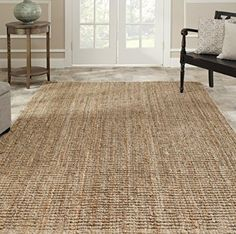 I like the look of this sisal runner and it's a good size. Hand-woven Jute Weaves Natural-colored Sisal Rug x Natural Area Rugs, Casual Rug, Rugs On Carpet, Sisal Area Rugs, Safavieh, Rugs, Reversible Rug, Natural Fiber Rugs, Jute