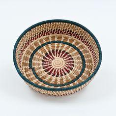 Round Pine Needle Basket by Mayan Hands MKT