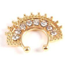Crystal Fan Fashion Nose Septum Ring