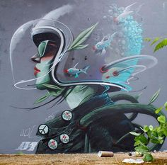 Habitat Graffiti street art Sheffield by Murals Street Art, 3d Street Art, Amazing Street Art, Mural Art, Street Artists, Urban Graffiti, Street Art Graffiti, Banksy, Art Graphique