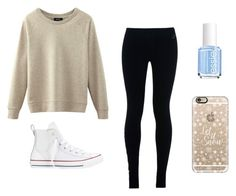 """""""Winter"""" by kittykitkat132 ❤ liked on Polyvore featuring NIKE, Converse, Casetify and Essie"""