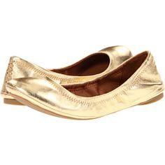 I need new gold ballet flats.