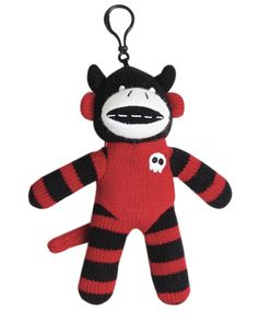 Equal parts scary and cute, this sock monkey is the perfect decoration for your home this Halloween. Featuring a convenient back clip, just squeeze his belly and listen to him cackle! €4 at Dunnes Stores.