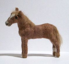 Horse Needle Felted Custom Order by makingstuffwithlove on Etsy, $49.00