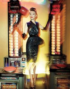 vlada roslyakova lofficiel paris - A video game arcade does not seem like an entirely chic location for a high fashion magazine photo shoot to take place, but as the Vlada Roslyakova...