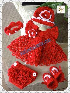 Crochet Baby Dress Set Baby Dress Crochet Baby by SuziesTalents, $119.00