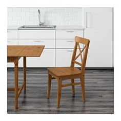 IKEA - INGOLF, Chair, Solid pine is a natural material which ages beautifully and gains its own unique character over time.You sit comfortably thanks to the high back.