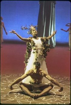 """Leon Levy BAM Digital Archive: Photograph: [Antonis Frangakis and Apostolia Papadamaki in the Vasilios Calitsis production """"The World Mysteries: The Mysteries of Eleusis"""" during BAM Next Wave Festival, 1998] [1998.92598]"""