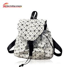 Yong lady newest Baobao Hot Fashion Preppy style knapsack  UNISEX Geometric Lattice BACKPACK 6 colors-in Backpacks from Luggage & Bags on Aliexpress.com | Alibaba Group
