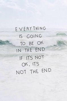 It's not the end.