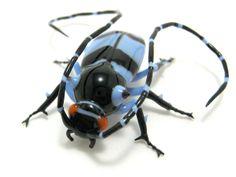 "Wesley Fleming | Longhorn Beetle - 2008, Effetre glass, about 2.5"" x 2"" x 0.5"""