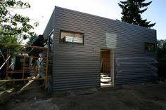 CO Metal Source -- Galvalume metal siding on the garage. SClarkson-G-Siding Small Buildings, Metal Buildings, Small Houses, Small Cabins, Metal Barn, Metal Roof, Barn Siding, Cedar Siding, Gardening