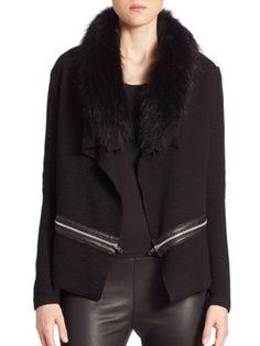 GENERATION LOVE Arielle Fur Trim Cardigan. #generationlove #cloth #cardigan