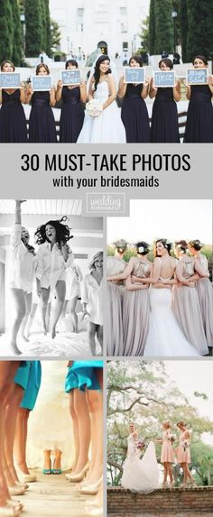 From getting ready pictures, to silly pictures, to the sentimental picture, there are so many must have wedding photos with your bridesmaids. Don't forget to in