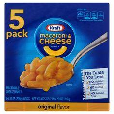 Kraft Macaroni & Cheese Dinner Original Flavor, 5 count , 36.25 OZ (1.03kg)