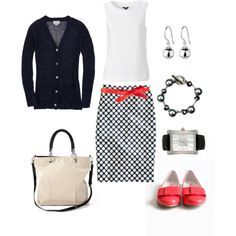 Polka Dot Pencil Skirt :)
