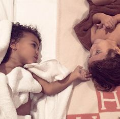 Too cute for words! Kim Kardashian shared the most adorable photograph of daughter North West and her cousin Penelope Disick.