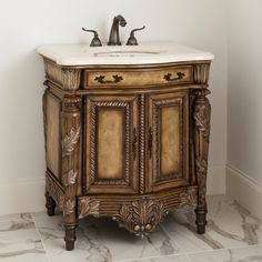 MARTINIQUE MEDIUM SINK CHEST - Ambella Home  #Vanity #Bathroom #Furniture
