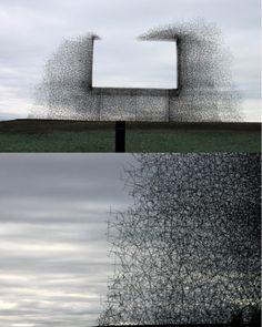 """clean air"" sculpture at BC/US border"