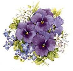 Collection of Vintage Flower Clipart Purple Art Vintage, Vintage Flowers, Vintage Floral, Art Floral, Violet Tattoo, Impressions Botaniques, Flower Clipart, Flower Images, Flower Cards