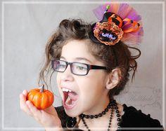 Girls Witch Hat   Halloween Hat  Mini Top by LittleMissHattitude, $41.95