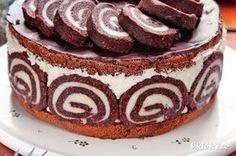 Érdekel a receptje? Hungarian Desserts, Hungarian Cake, Pasta Cake, Torte Cake, Just Eat It, Sweets Cake, Sweet And Salty, No Bake Desserts, Cake Cookies