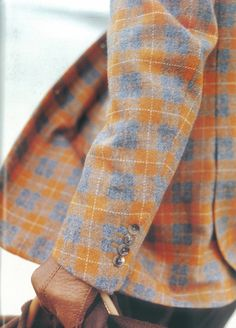 Tweed Tartan Print Jacket Blazer Menswear Fashion Style