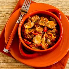 Kalyn's Kitchen®: Recipe for Vegetarian Mushroom Stew with Red Bell Pepper, Onion, and Paprika