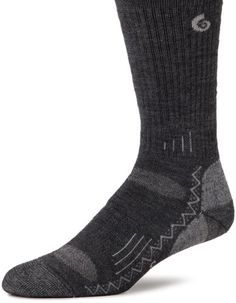 point6 Hiking Tech Medium Cushion Crew Socks (Gray, Medium) >>> Click image to review more details.