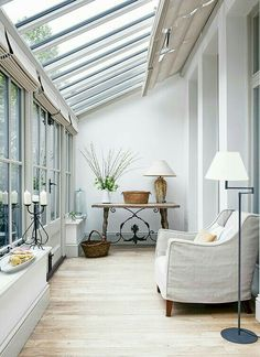 18 Small Conservatory Interior Design Ideas Now, a conservatory is not only used for those who love to have fresh plants in their home but also to get a perfect relaxing room. If you have some left spaces in your home, it is a good idea to make Small Conservatory, Conservatory Interiors, Small Sunroom, Sunroom Ideas, Conservatory Ideas Interior Decor, Conservatory Design, Sunroom Decorating, Small Garden Room Ideas, Conservatory Flooring
