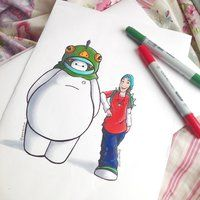 Fred and Baymax by DeeeSkye