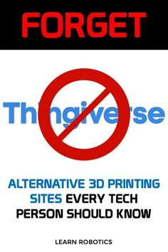 Thingiverse Alternatives Printing - Makers Gonna Make These are 10 alternatives to Thingiverse for finding printing files and free CAD models. Every tech and engineer should have these sites bookmarked, especially if you enjoy printing stuff! 3d Printing Sites, 3d Printing Website, 3d Printing Business, 3d Printing Diy, 3d Printer Designs, 3d Printer Projects, 3d Projects, 3d Printer Files, 3d Printer Models