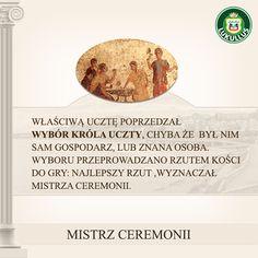 Ciekawostka od Lukullusa!  Kto z Was wiedział, że podczas ucztowania w starożytnym Rzymie, wybierano Mistrza Ceremonii, poprzez rzut kośćmi?