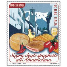 So excited that today Italy released a postage stamp in honor of its extra-delicious spaghetti all
