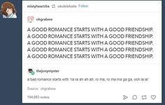 A Good Romance starts. A Bad Romance starts. Stupid Funny, The Funny, Hilarious, Tumblr Funny, Funny Memes, Jokes, Bad Romance, Best Friendship, Music Humor