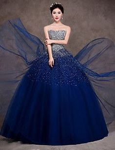 Vestidos De Xv Azul Marino Con Dorado Patrones De Vestir