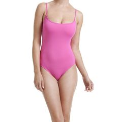 Anne Cole One Piece Sz 16 Solid Pink Swimsuit Maillot Tank Swimwear 14MO001  #AnneCole #OnePiece