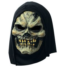 Terrify trick-or-treaters with this skull mask full of pestilence and rot! Our Hooded Plague Skull Mask is a grotesque addition to wear with any extra-creepy costume. Halloween Looks, Halloween Themes, Creepy Costumes, Mask Images, Skull Mask, Mask Party, Party Stores, Good Books, Hoods