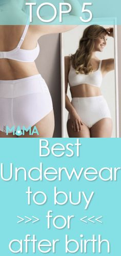 Best postpartum underwear for after delivery. Click to find out which ones are best and how to find the right type for you. Stork Mama