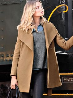 The Belted Wrap Coat Michael by Michael Kors