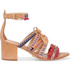 Schutz Andie embellished leather sandals