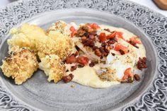 Torsk med parmesancrème och gratinerad blomkål