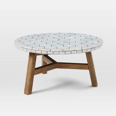 Mosaic Tiled Coffee Table - Gray Spider Web Top | west elm